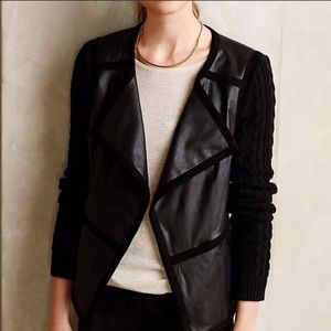 Anthropologie Hiroumi Vegan Leather Moto Jacket